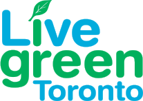 "Logo with the ""Live green Toronto"" text"