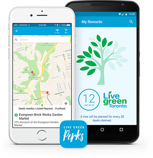 Live Green Perks mobile app